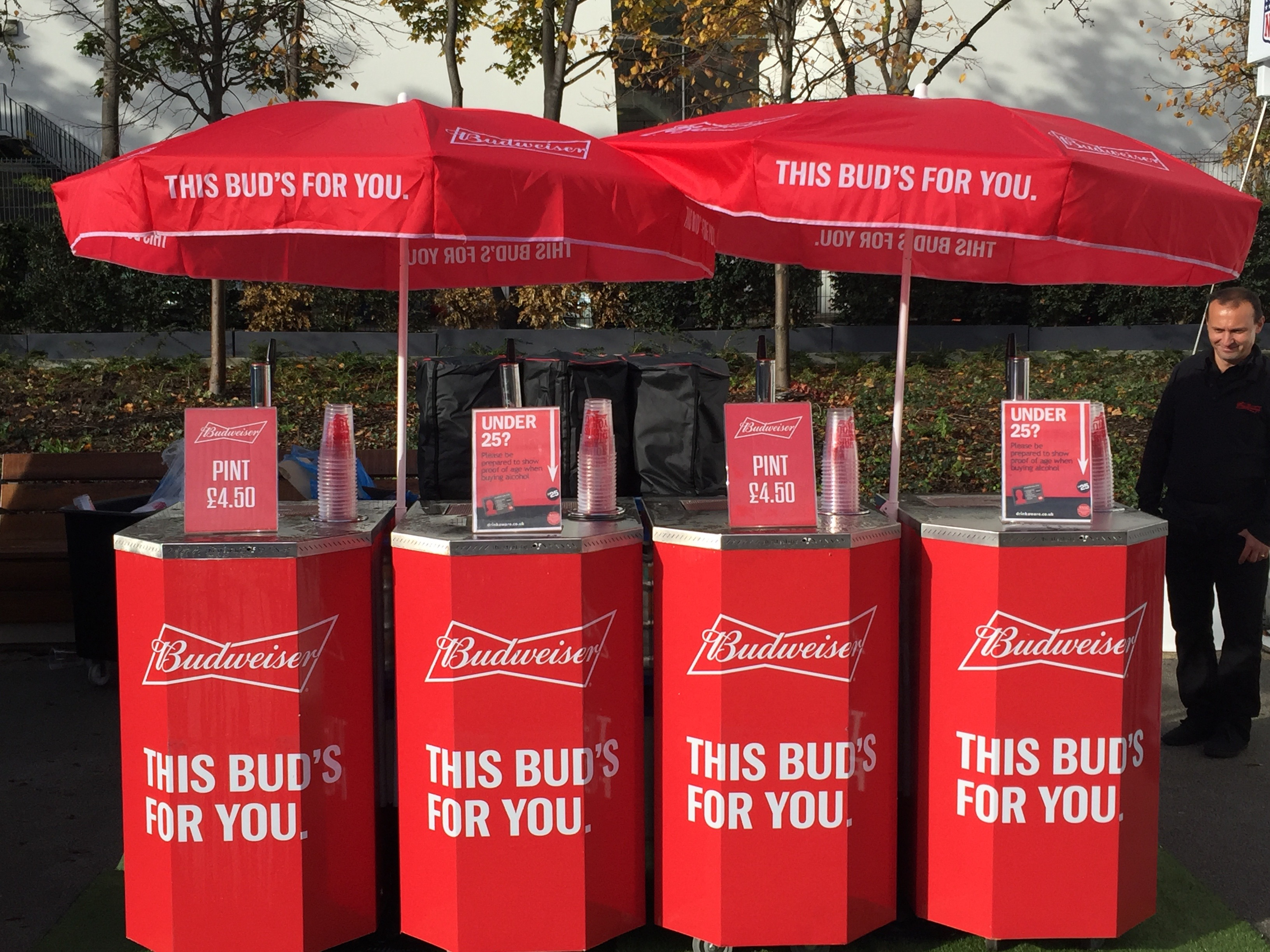 Branded mobile bar unit